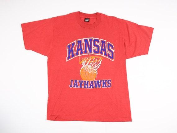 release date: 27465 3f1b0 KU Shirt XL - Vintage University of Kansas T-shirt Extra Large- KU  Basketball Shirt- Vintage Jayhawks Shirt- 90s Jayhawks Shirt- Screenstars