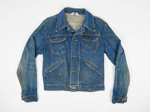 M Vintage Jean Jacket Men's Medium - Distressed Je