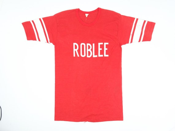 Roblee Shirt - 50s 60s Velva Sheen T-Shirt - Strip