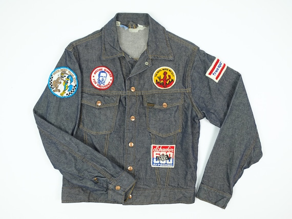 70s Jean Jacket with Patches - Vintage Roebucks Je