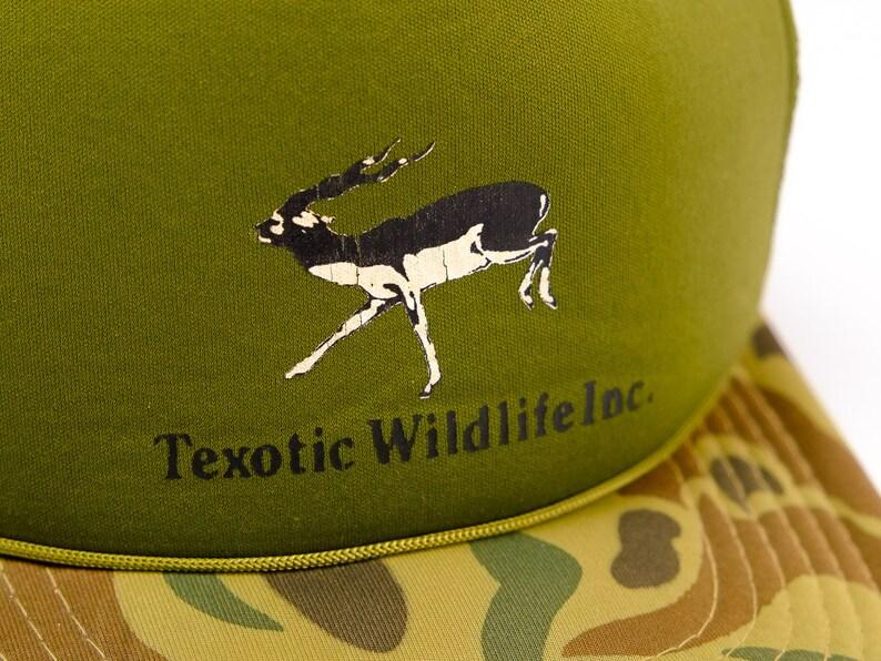 b9c6322f1bb1c Texotic Wildlife Hat Vintage Camo Hat Vintage Hunting Hat