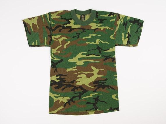 80s Camo Shirt S Vintage Camouflage T-shirt Men s Small  45d09635b05
