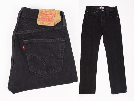 Size 32 Levi's 501 Jeans - 32 Inch Waist - Black L