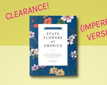 UP TO 70% OFF - Slightly Imperfect - State Flower Coloring Books + Free Shipping