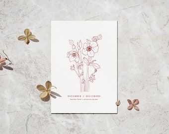 """Flower of the Month Art Print, 5x7"""""""