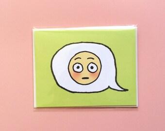 Emoji Cards! - Flushed Face