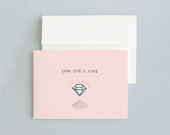 LOVE IS LUXE - Valentine's Day Card (Pink)
