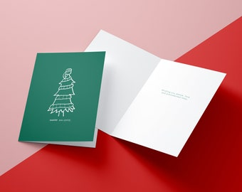 Precedented Times Toilet Paper Tree Happy Holidays Christmas Card