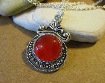 Other Fine Jewellery Chili Pepper Oval Turquoise With Round Carnelian Sterling Silver Pendant A Great Variety Of Goods