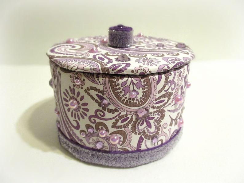 Birthday Teen Girl Gift Purple Handmade Jewelry Box Graduation Gift Purple Paisley Gift Box Trinket Box Keepsake Box Thank You