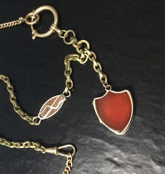 Victorian assemblage locket chain .
