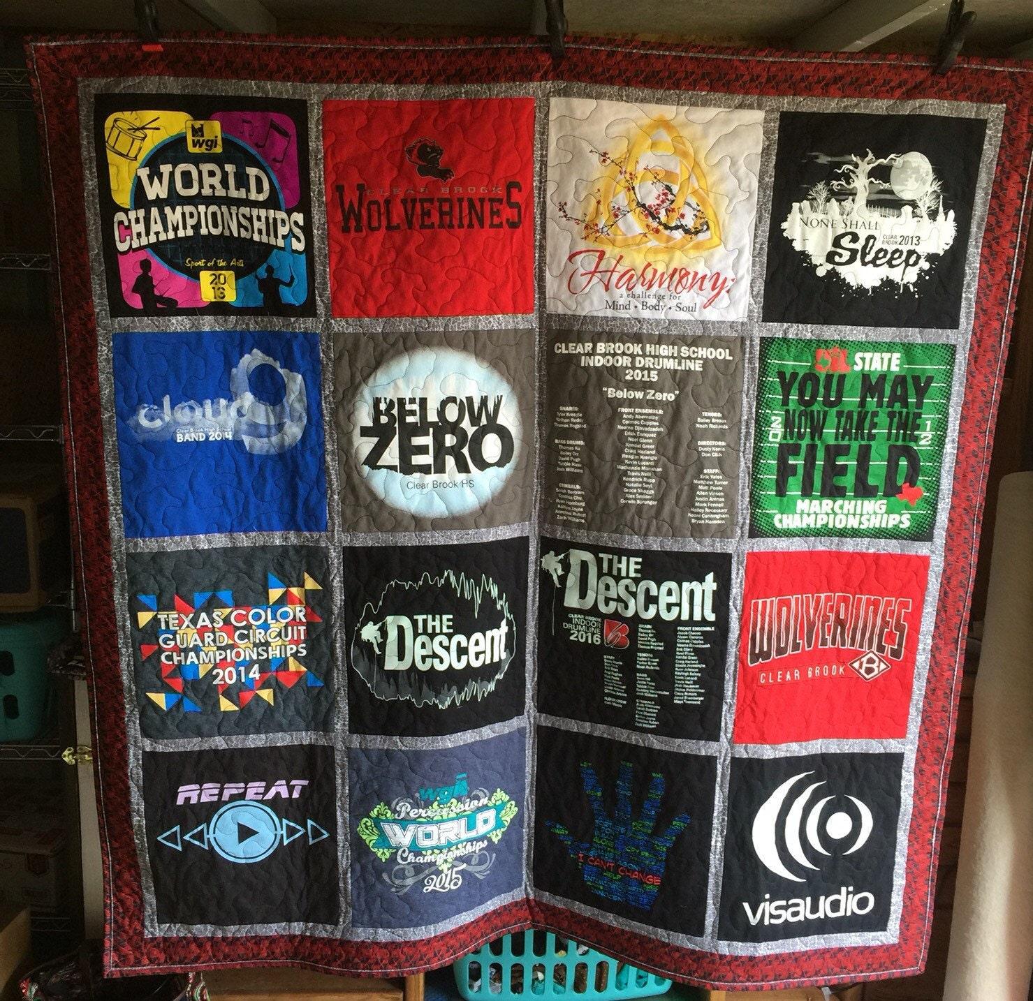 T Shirt Blanket Tshirt Quilt Custom Memory Baby Etsy