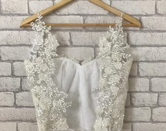 Lace Wedding Dress - Lace Wedding Top - Bridal Top - Wedding Top - Bridal Separates - Two piece Wedding Dress - Wedding Dress -Bridal Bodice