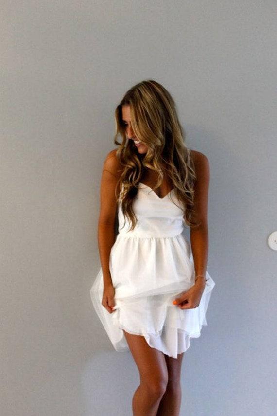 Short Wedding Dress Simple Wedding Dress Beach Wedding Etsy