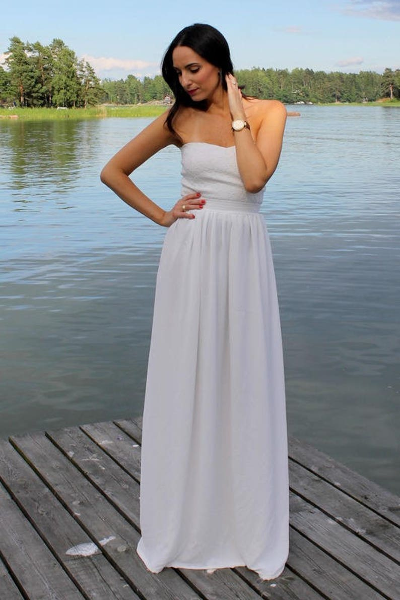 Simple Wedding Dress Beach Wedding Dress Boho Wedding Dress Summer Wedding Dress Casual Wedding Dress Lace Wedding Dress