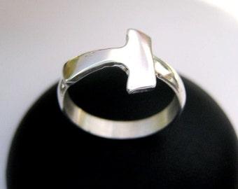 Silver ring Tau Cross