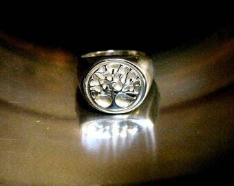 Silver Tree Life Ring