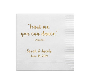 Of Course Size Matters Custom Cocktail Napkins Drink Size Matters Personalized Party Napkins Alcohol Quotes Foil Printed Champagne Bar