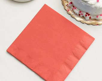 Plain Solid Color  No Printing Package of 50 3 ply Napkins Navy Blue Many More Colors Beverage Cocktail Luncheon Guest Towel Dinner
