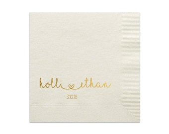 personalized wedding napkins etsy