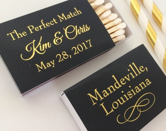 Only 1.10 each Personalized Wedding Matches Matchbook Match Book I Met My Match Perfect Printed Lots of Colors and Designs to choose from