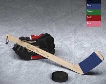 Personalized hockey stick hat trick mini monogrammed customized monogram engraved custom sports equipment gear sticks for RR10710