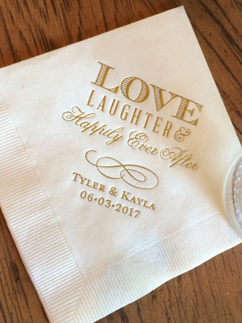Cheap Wedding Napkin.Personalized Wedding Napkins Personalized Napkins Bridal Shower Wedding Napkins Custom Monogram Love Laughter And Happily Ever After