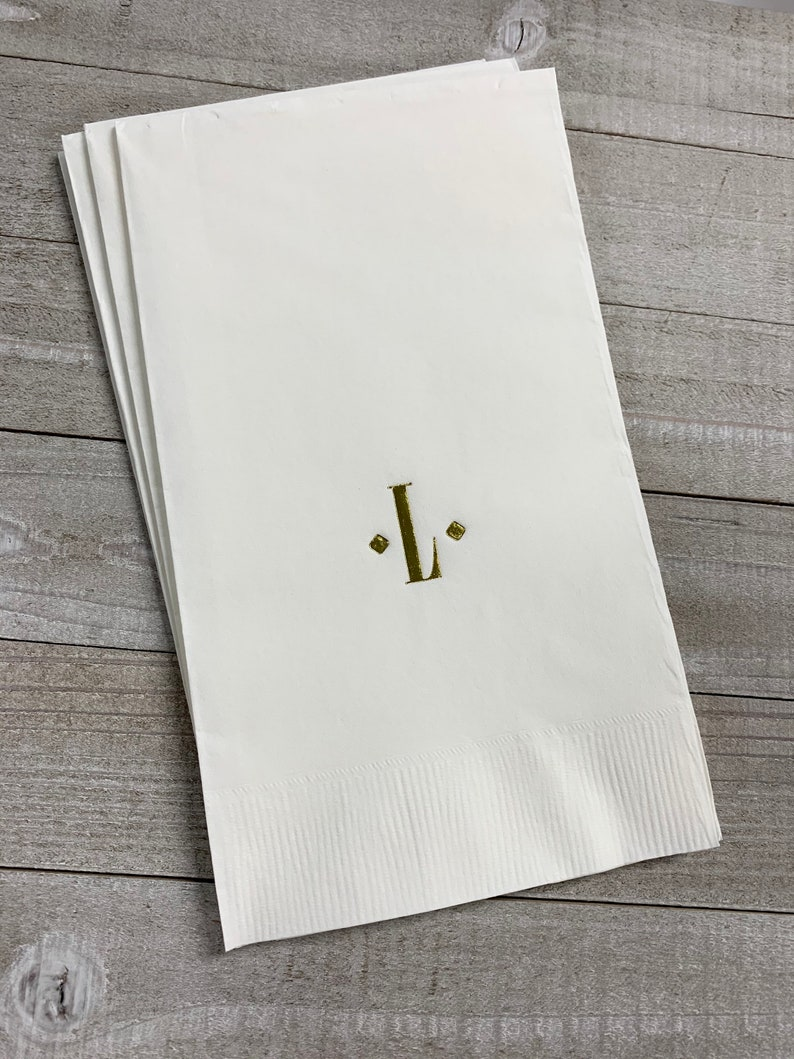 50 Personalized Hand Guest Towels Paper Dinner Napkins Wedding Favors Hostess Gift Party Engagement Monogram Birthday Bar Bat Mitzvah
