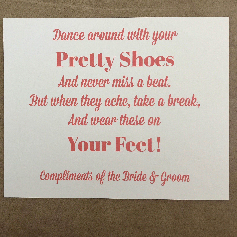 78c69a46c3cccc Flip Flop Basket Wedding Shoes Sign Printed Sign ONLY