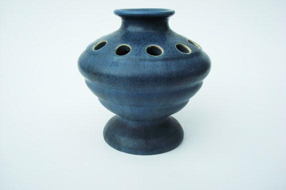 Early Camark Pottery Flower Frog Vase Shape 633 Wlabel Hand Etsy