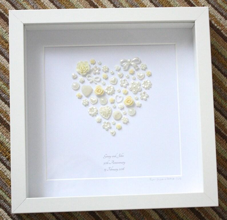 Perle Hochzeit Jahrestag Andenken Kunstwerk 30 Hochzeitstag Etsy
