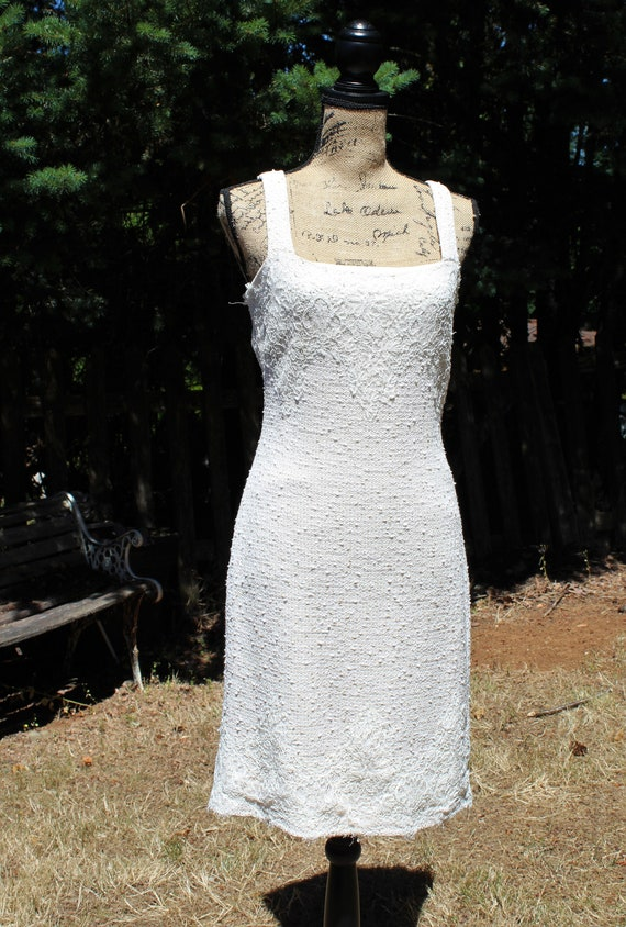 Vintagewhitecreamlaceknittanksummerspringfalldress Beautiful Dress St John Size 6 Pretty Dress Bohoprettyhippie