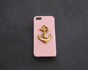 iPhone 8 Plus Case iPhone 8 Case Pink 5s 5c Cover iPhone 7  Pink Case Nautical Case Anchor iPhone Case  Anchor Case S4 Pink iPhone 7 Plus S4
