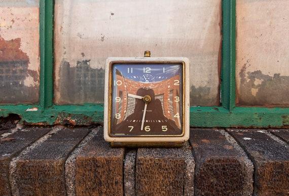 Westclox Square Mid-Century Alarm Clock Vintage Bedroom