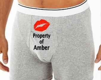 fa3ce37d78ce Valentine Boxer Briefs- Naughty Underwear - Personalized Briefs - Funny  Boxer Briefs - Groom Boxers - Gifts For Him - Personalized Underwear