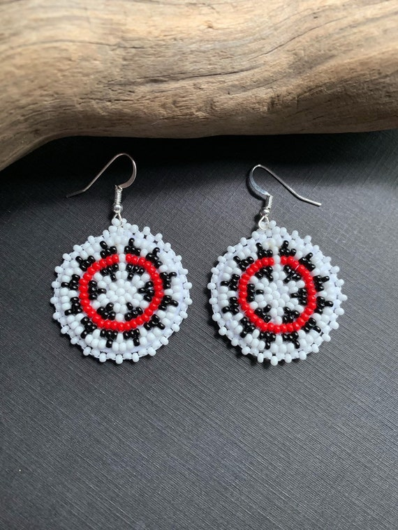 Mother/'s Day Gift Indian Style Beaded Earring Jewelry Vintage Handmade Bohemian Tribal Western Accessories On Sale Free Shipping* #80478-1