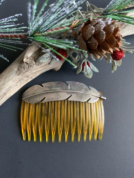Native America Indian Hair Comb, Navajo Vintage Fe