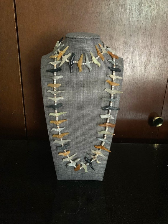 Native America Indian Necklace, Navajo Vintage Fet