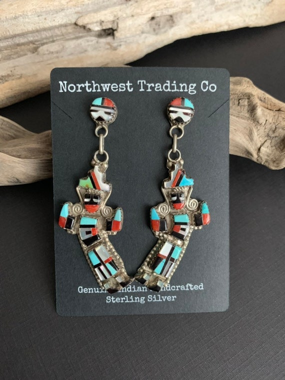 Native American Earrings, Turquoise Earrings,Zuni