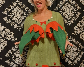 Ugly Christmas Sweater Small Sexy Christmas Sweater Etsy
