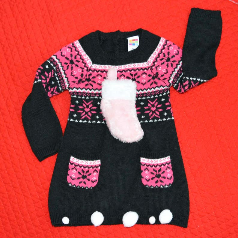 945acbcf0 24 month Baby Ugly Christmas Sweater Dress 2t girl sweater