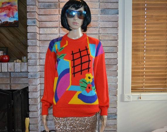Vintage 1980's 1990's sweater, Small, Ugly Christm