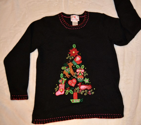 Ugly Christmas Sweater, Small, vintage, Light up,