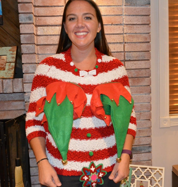 Ugly Christmas Sweater Large Sexy Christmas Sweater Etsy