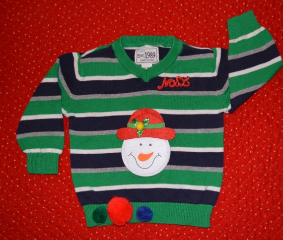12 To 18 Months Kids Ugly Christmas Sweater Boy Toddler Etsy