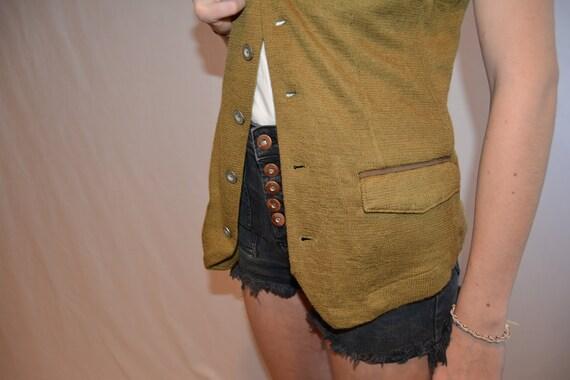 Vintage 1990's vest, Women's, Large, steam punk, … - image 4