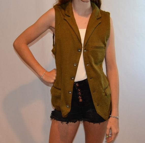 Vintage 1990's vest, Women's, Large, steam punk, … - image 1