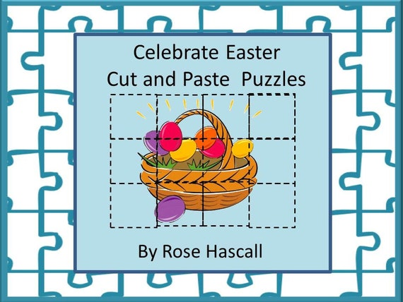 graphic regarding Easter Puzzles Printable named Easter Slice and Paste Printable Puzzles for Facilities Early Finishers Unique Education and learning Kindergarten Autism Preschool High-quality Engine Capabilities