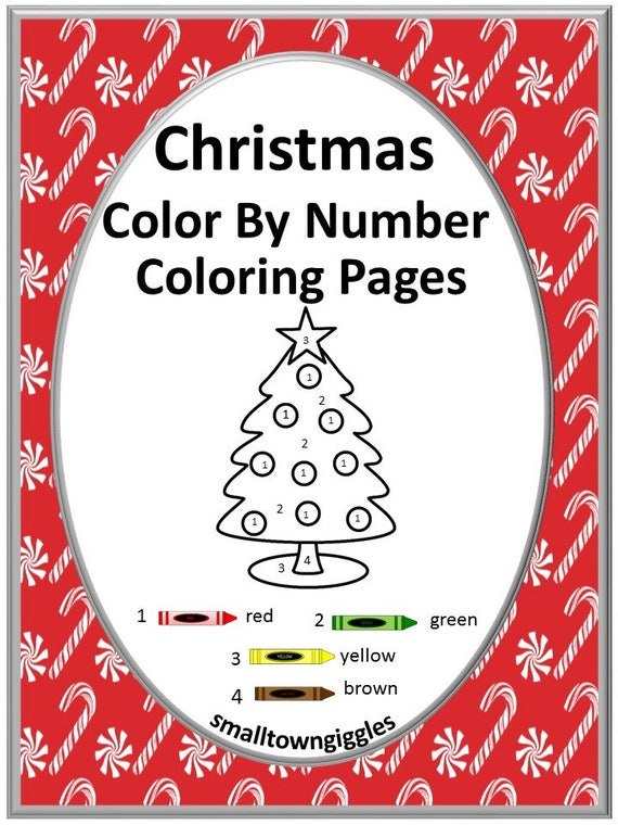 Christmas Color By Number Coloring Pages Fine Motor Skills Etsy