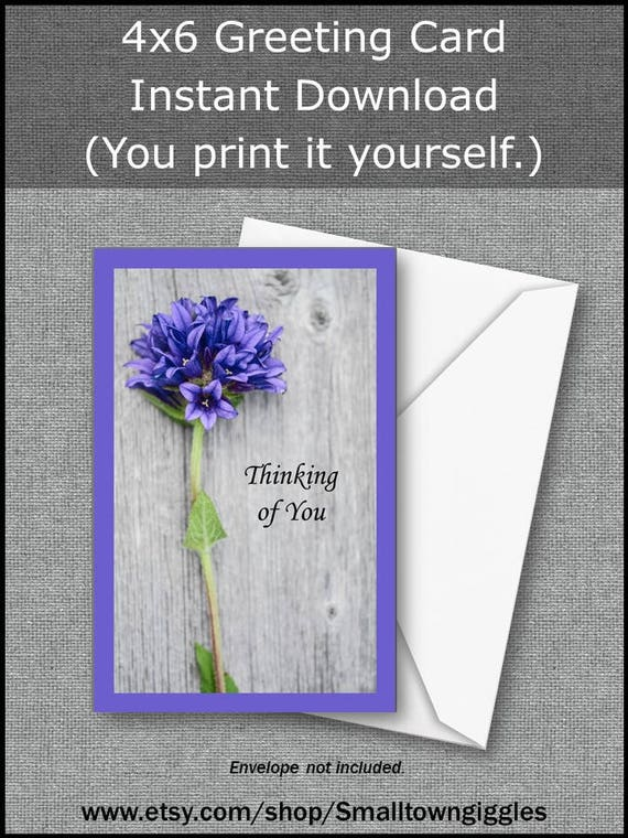 Printable All Occasion Card Digital Download Gardener Flower